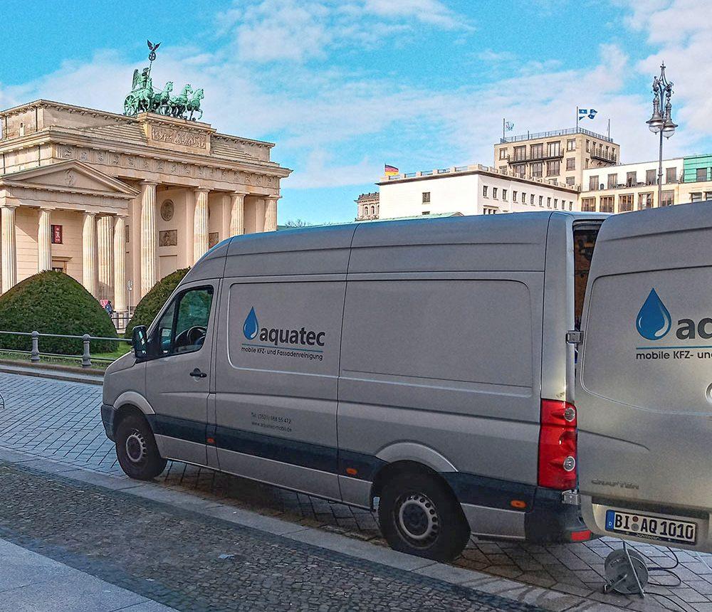 Fassadenreinigung in Berlin Brandenburgertor