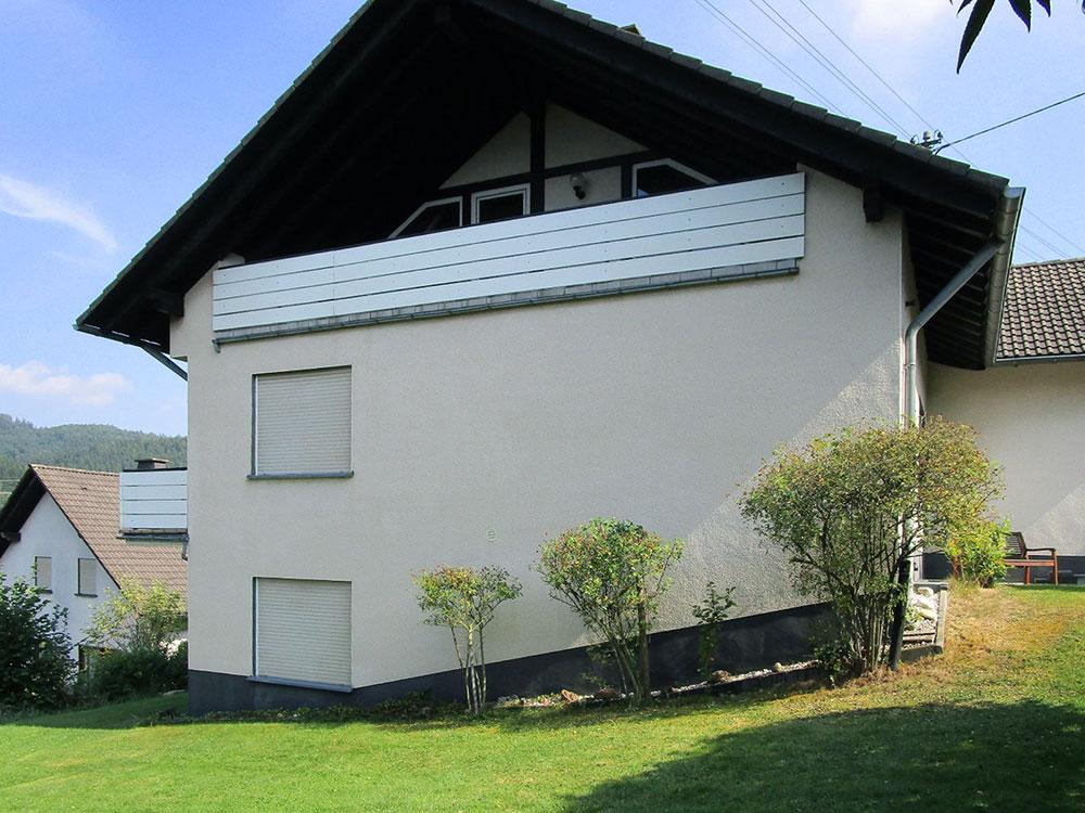 Hausfassade gereinigt